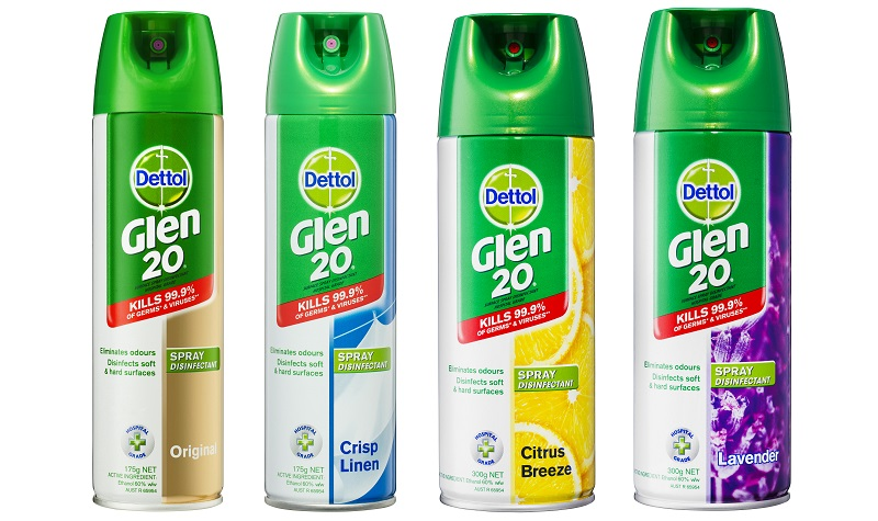 glen 20 disinfectant spray