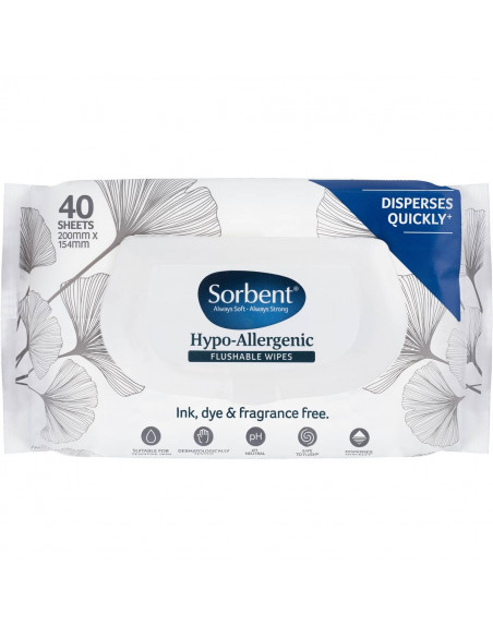 sorbent flushable wipes